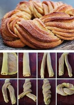 Homestead Survival: Braided Cinnamon Wreath Recipe and Method I'd only try it with my mom's cinnamon roll recipe! Braided Cinnamon Wreath Recipe and Technique, Nice For Christmas Morning - Thehomesteadsurvival Braided Cinnamon Wreath Recipe - gonna make t Cinnamon Wreath Recipe, Breakfast Recipes, Dessert Recipes, Breakfast Ideas, Breakfast Casserole, Breakfast Bake, Breakfast Croissant, Breakfast Pastries, Baking Desserts