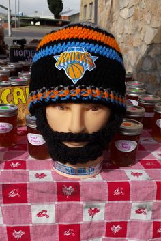 NEWYORK Knicks Beard Beanie,Customize NYKnicks AnySizeAnyColor,Velcro4PerfectFit,VelcroBothSidesBeard&Beanie,CheckAll5Pics,GreatGiftidea by DWedgeCreations on Etsy