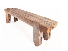 Bench from recycled wood // Tom McWalter