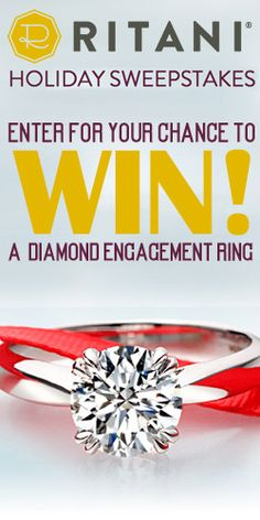 Don't Miss Your Chance to #Win a #Diamond #Ring from #Ritani worth $5,000! #jewelry #sweeps VALID UNTIL JAN 7