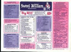 sweet william restaurant - Bing Images old richland mall, they had the best ice cream