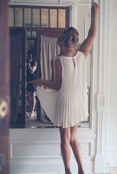 Spring 2013: Day Dreamer #neutral #fashion #dress #pleated #white #inspiration