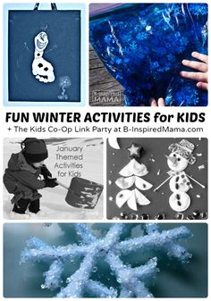 Some Super Fun Winter Activities for Kids - Perfect for a Snow Day!  + The Kids Co-Op Link Party - B-Inspired Mama
