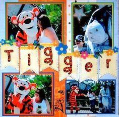 Tigger!  Disney World, Florida - RIGHT SIDE - Scrapbook.com