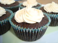 Chocolate Guinness Cupcakes with Bailey's Buttercream Frosting