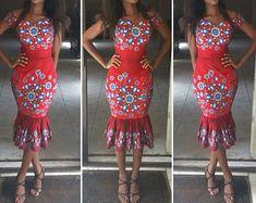 Bracelet mince Ankara Party Dress par Africandressshop sur Etsy