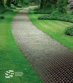 Don't waste time using inferior Permeable Paver products - NDS is the Industry leader! View our Spec Sheets Today! Paver Sidewalk, Paver Walkway, Driveway Landscaping, Permeable Driveway, Gravel Path, Driveways, Outdoor Patio Designs, Outdoor Projects, Landscape Design