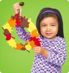 Fall Leaf Wreath from Lakeshore Learning: This easy-to-make door decoration will bring a splash of autumn color to any home!