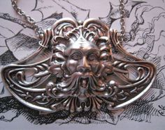 Odin's Fury Silver Plated and Stainless Steel Necklace, viking necklace, celtic design