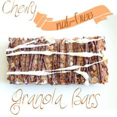Chewy Nut Free Granola Bars  My Edible Journey