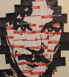Inigo Montoya, made of Hello My Name Is tags. Clever.