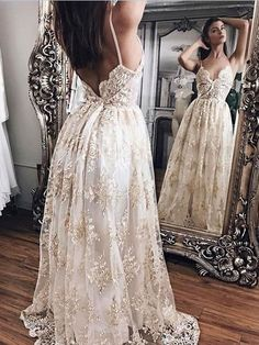 Vintage Wedding Dress, V Neck Wedding Dress, Wedding Dress Lace, Wedding Dress A-Line, Wedding Dresses 2018, Wedding Dress For Cheap #Wedding #Dresses #2018 #Dress #ALine #For #Cheap #Lace #V #Neck #Vintage