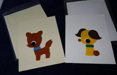 two children's greetings cards by LittleInsect on Etsy £1.99