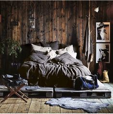 9 Spiritual Clever Tips: Simple Minimalist Home Benches chic minimalist bedroom living rooms.Minimalist Home Diy Declutter minimalist bedroom loft simple.Minimalist Living Room Apartment Home Office. Fall Bedroom Decor, Rustic Bedroom Design, Master Bedroom Design, Home Bedroom, Home Decor, Bedroom Ideas, Bedroom Inspiration, Fall Decor, Industrial Bedroom Design