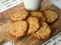 Healthy Cookies, Cookies Vegan, Cooking Tips, Almond, Muffin, Food And Drink, Herbs, Breakfast, Sweet