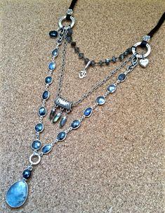 delizia di labradorite triplo filo pietra di sweetassjewelry