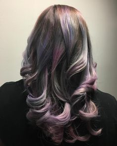 Oil slick hair blond