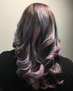 Oil slick hair blond