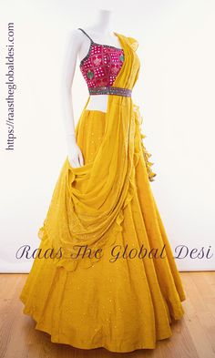 LEHENGA ONLINE USA Give yourself a versatile look by wearing this georgette lehenga choli featuring lucknowi work lehenga and hand work blouse Party Wear Indian Dresses, Indian Bridal Outfits, Indian Gowns Dresses, Dress Indian Style, Indian Designer Outfits, Designer Dresses, Indian Wear, Party Wear Lehenga, Choli Designs