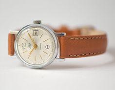 Retro lady's watch Zarja wristwatch feminine vintage by SovietEra, $69.00