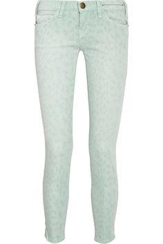 Current/Elliott The Stiletto leopard-print low-rise skinny jeans