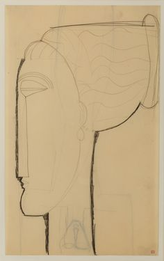 Amedeo Modigliani (Italian, 1884-1920) Untitled, N/D Pencil on paper, 42,7 x 26,3 cm