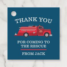 Shop Vintage Red Fire Truck Favor Tags created by PrettyLittleInvite. Birthday Favors, It's Your Birthday, Birthday Cakes, Birthday Ideas, Birthday Gifts, Party Favor Tags, Party Favors, Baby Shower Parties, Shower Party