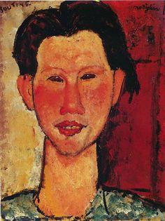 #portrait de Chaim Soutine par #Modigliani #garçon #Montableau