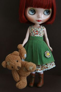 gentle river blythe with teddy bear