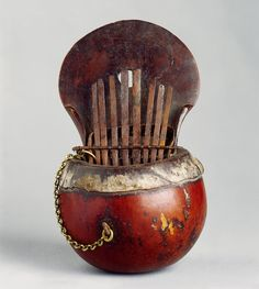 Curious African Musical Instruments 'Sanza' (1800 to 1900) - Kalimba