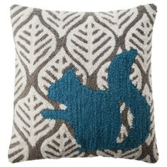 "Threshold™ Squirrel Toss Pillow - Nautical Blue (18x18"")"