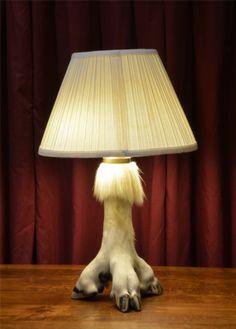 Three Footed/Hoofed Table Lamp