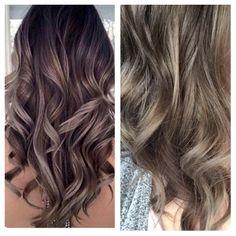 Inspiration on the left, sisters hair on the right, nailed it! #ellemariekarlee #ellemarielakestevens #hairbykarleeann #balayage #mushroomblonde