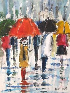 famous paintings of umbrellas - Google Search