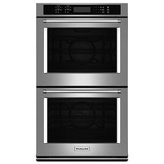 "KitchenAid 30"" Double Wall Oven w/ Even-Heat™ True Convection -  Stainless Steel  (Priced at $3059.99)"
