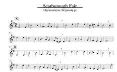 Scarborough Fair na trzy flety proste