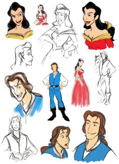 Bell and Gaston from Beauty and the Beast Genderbend