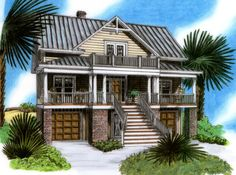 Raised Beach House Delight - 15019NC | Beach, Low Country, Southern, Vacation, Narrow Lot, 1st Floor Master Suite, CAD Available, Drive Under Garage, Elevator, PDF | Architectural Designs
