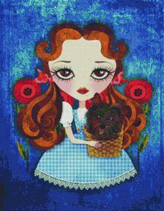 Cross stitch kit modern art by Sandra Vargas 'Dorothy- Wizard of Oz needlecraft kit $116.02
