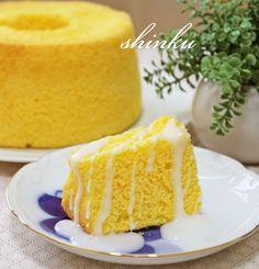 Sweets Recipes, Baking Recipes, Cake Recipes, Japanese Pastries, Japanese Food, Chiffon Cake, Something Sweet, No Cook Meals, Vanilla Cake