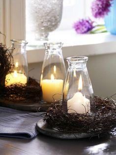 Botteled candles