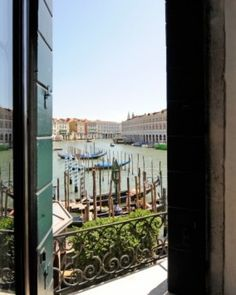 Many bedrooms and public spaces lead to private balconies overlooking the famous Grand Canal. #JSHoneymoon