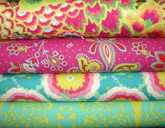 Amy Butler Fabric /  Soul Blossoms / 4 Half Yard Bundle / by mimis, $18.00
