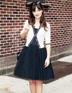 Zooey Deschanel...enough said! I love her cardigans and 50's style. She is my favorite celebrity.