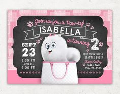 Secret Life of Pets Invitation for Birthday Party / by Inkchanting