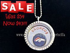 DENVER BRONCOS Locket Necklace- Floating Charm and Hand Stamped Personalized Window Plate,Personalized Window Screen/Coin/Pride Slide-Sale 20% off