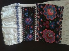 Slovak folk costume embroidery, Pliesovce