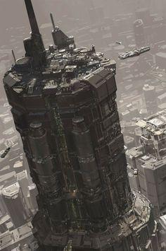 Futuristic Skycapper Building.
