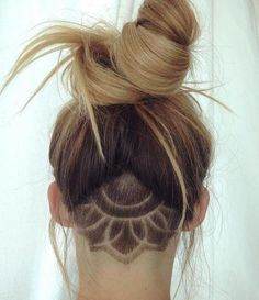 Here we have we collected most beautiful and trendy hair tattoo designs ideas for your inspiration. You can choose hair tattoos for next hairstyles. Shaved Undercut, Undercut Long Hair, Undercut Bob, Undercut Girl, Undercut Hairstyles Women, Cool Hairstyles, Undercut Women, Hairstyles 2018, Female Undercut