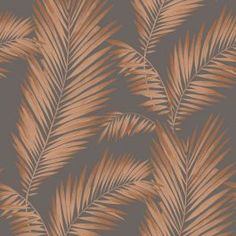 Precious Metals Ardita Leaves Wallpaper - Copper - Arthouse 673000 This beautiful Ardita Leaves wallpaper features a large palm leaf motif in a soft copper tone with metallic copper accents, on a gunmetal grey background that is infused with a subtle mica sheen. Easy to apply, this high quality wallpaper would look great as a feature wall or equally good when used to decorate a whole room. A beautiful palm leaves themed wallpaper Features metallic highlights Ideal for bedrooms and lounges…